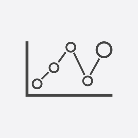 Business graph icon. Chart flat vector illustration on white background.