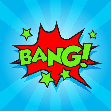 Bang comic sound effects. Sound bubble speech with word and comic cartoon expression sounds vector illustration. Illustration