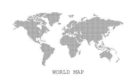 Dotted blank black world map isolated on white background world dotted blank black world map isolated on white background world map vector template for website gumiabroncs Gallery
