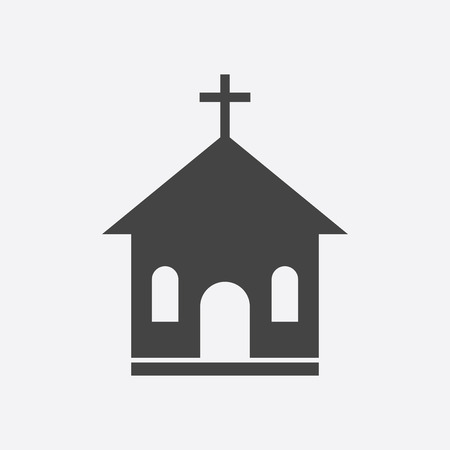 Church sanctuary vector illustration icon. Simple flat pictogram for business, marketing, mobile app, internet on white background. Çizim