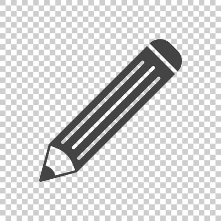 Pencil pictogram icon. Simple flat illustration for business, marketing internet concept on isolated background. Trendy modern vector symbol for web site design or mobile app