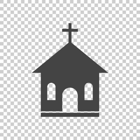 Church sanctuary vector illustration icon. Simple flat pictogram for business, marketing, mobile app, internet on isolated background Ilustracja
