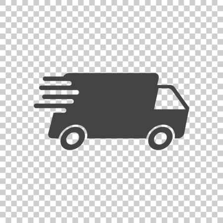 Delivery truck vector illustration. Fast delivery service shipping icon. Simple flat pictogram for business, marketing or mobile app internet concept Zdjęcie Seryjne - 70225025