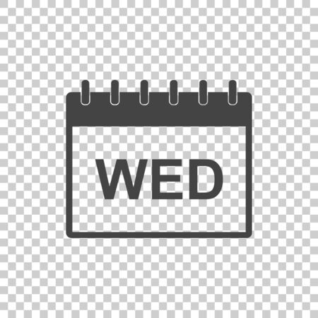Wednesday calendar page pictogram icon. Simple flat pictogram for business, marketing, internet concept. Trendy modern vector symbol for web site design or mobile app