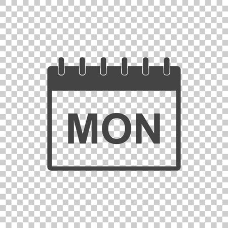 Monday calendar page pictogram icon. Simple flat pictogram for business, marketing, internet concept. Trendy modern vector symbol for web site design or mobile app