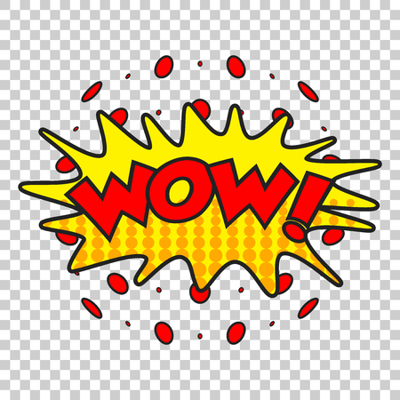 Wow comic sound effects. Sound bubble speech with word and comic cartoon expression sounds vector illustration.