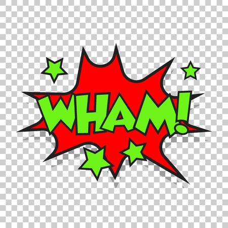 incident: Wham comic sound effects. Sound bubble speech with word and comic cartoon expression sounds vector illustration.