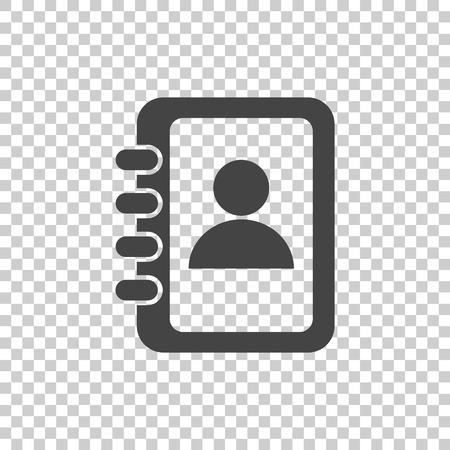 roster: Address book icon. Contact note flat vector illustration on isolated background.
