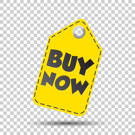 Buy now hang tag. Vector illustration
