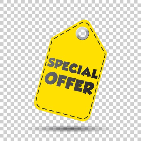 Special offer yellow hang tag. Vector illustration Ilustrace