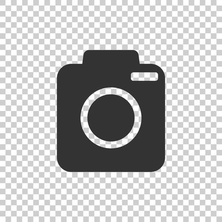 electronic device: Camera icon on isolated background. Flat vector illustration.