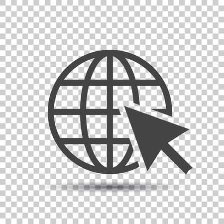 Go to web icon. Internet flat vector illustration for website on isolated background.