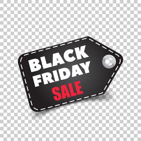 discount banner: Black friday sales tag. Discount sticker vector illustration. Clothes, food, electronics, cars sale. Illustration