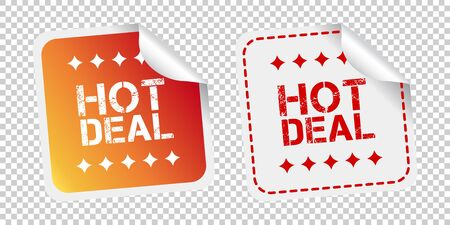 Hot deal stickers. Vector illustration on isolated background.