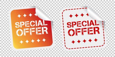 Special offer stickers. Vector illustration on isolated background.