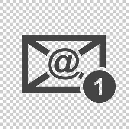 Email envelopbericht. Vectorillustratie in vlakke stijl op geïsoleerde achtergrond.