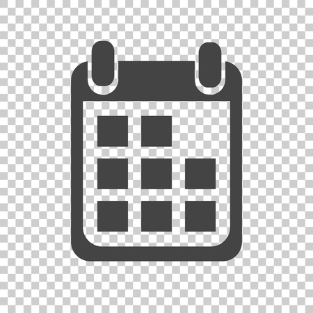 Calendar icon on isolated background, vector illustration. Flat style. Icons for design, website.