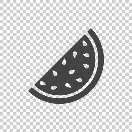 Watermelon icon. Juicy ripe fruit on isolated background