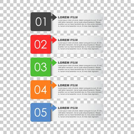 Modern business style options banner. Flat vector illustration. For diagram, number options, step up options, web template, infographics