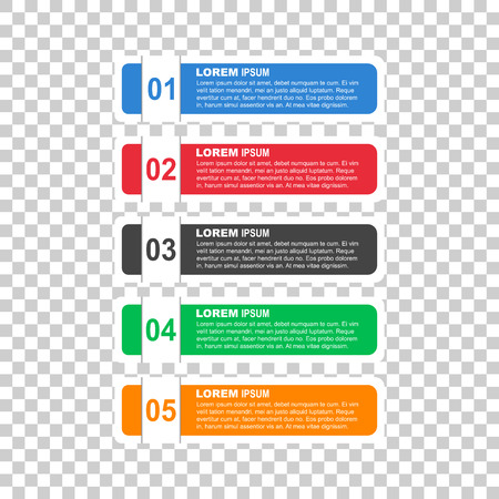Flat business style options banner. Vector illustration for diagram, number options, step up options, web template, infographics