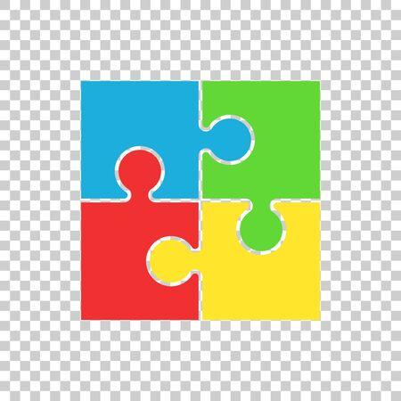 flat: Puzzle icon flat illustration