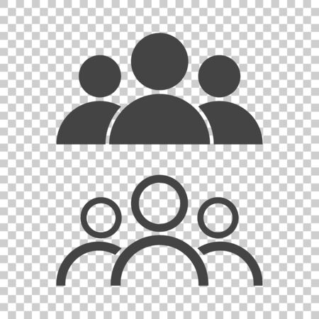 People icon. Flat vector illustration