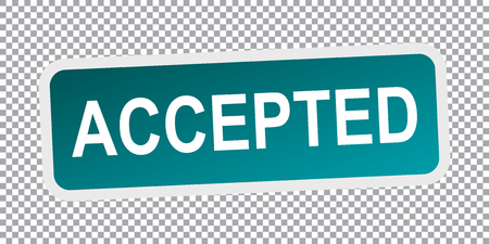 accepted: Accepted vector stamp. Flat vector illustration