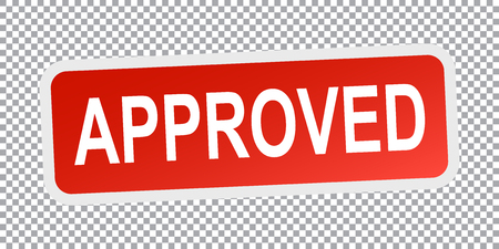 approved sign: Approved sign. Flat vector illustration