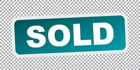 SOLD stamp. Flat vector icon