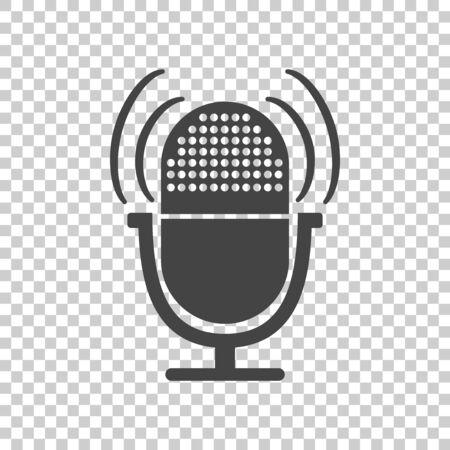 Microphone icon. Flat vector illustration Ilustrace