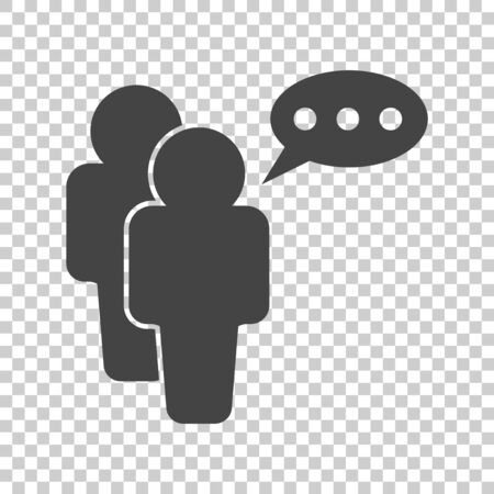 People icon with speech bubbles. Flat vector illustration