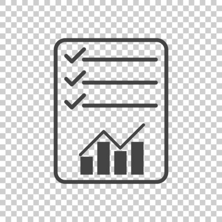 Checklist icon. Graph flat illustration
