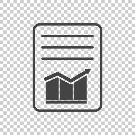 Document with chart symbol. Flat vector illustration Illusztráció