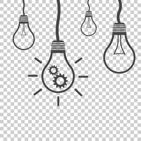 Light bulb idea vector flat