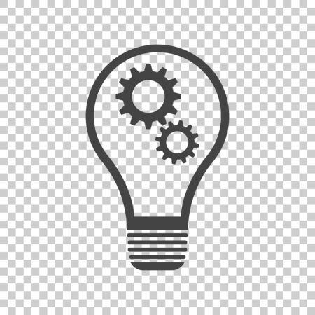 Lamp sign icon flat. Idea illustration Ilustracja