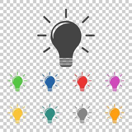 Light lamp sign icon. Flat vector