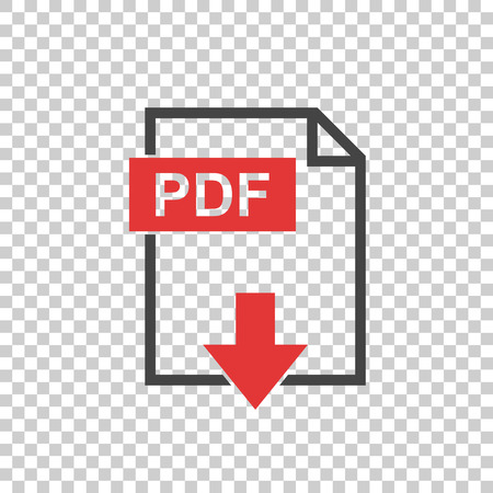 pdf: PDF icon on isolated background Illustration