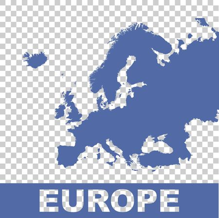 flat: Europe map. Flat vector