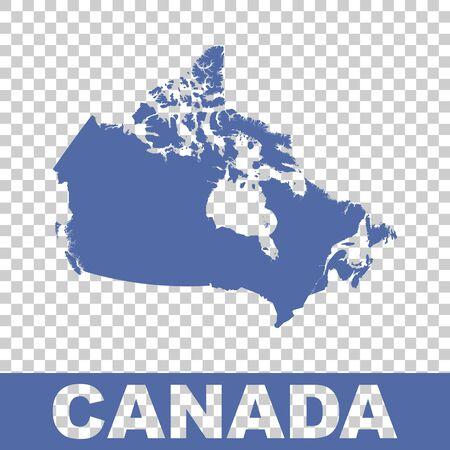 flat: Canada map. Flat vector