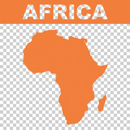 Map of africa. Vector flat