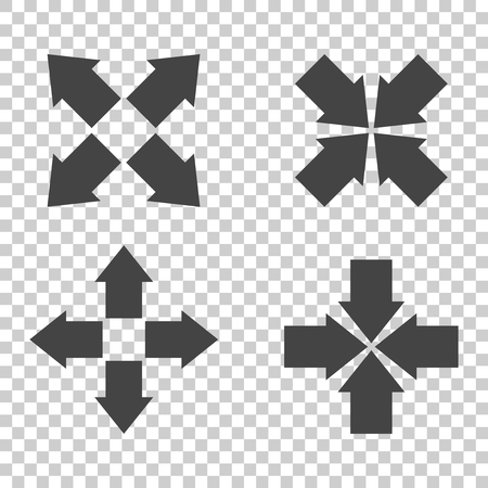 Arrow symbol icons. Vector flat 일러스트