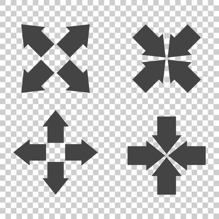 Arrow symbol icons. Vector flat Illustration