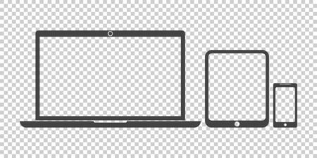 touchpad: Laptop, tablet, phone icon vector flat