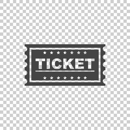 Ticket icon vector flat