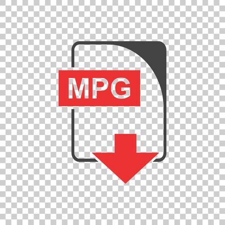 MPG file Icon vector flat Ilustracja