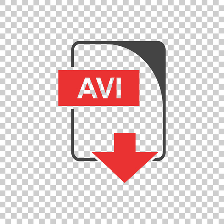 offline: AVI Icon vector flat