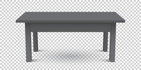 Vector 3d table for object presentation. Empty black top table on isolated background. Illusztráció