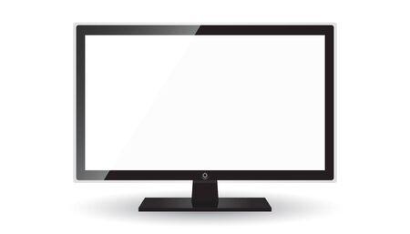 Flat TV illustration isolated on white layout.