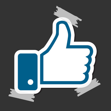 Thumb up symbol for web site design and app.