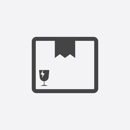 Icona della scatola chiusa. Illustrazione piana di vettore del pacchetto di spedizione su fondo bianco. Archivio Fotografico - 72271373